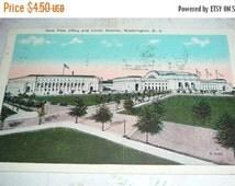 ON SALE New Post Office and Union Station, Washington, DC, Vintage Prelinen Postcard