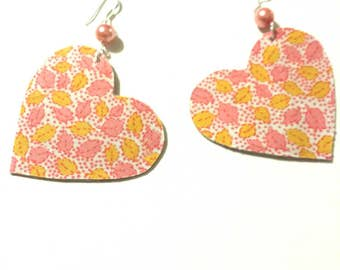 Fabric Heart Earrings 5