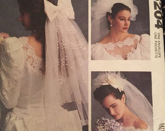 """Vintage 1991 McCall's Sewing Pattern: """"Alicyn Wedding Veil's"""""""