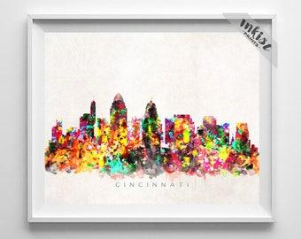 Cincinnati skyline Etsy