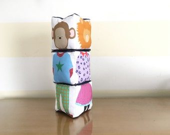 Zoo Animals Exquisite Corpse Stacked Blocks Toy Game and Nursery Decoration