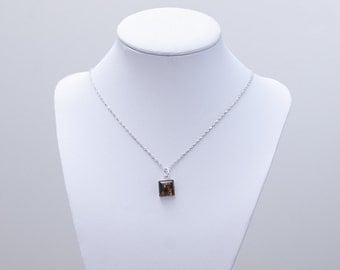 Baltic Amber Necklace ~ Baltic Amber Pendant Necklace ~ Sterling Silver Amber Necklace ~ Baltic Amber Pendant ~ Sterling Amber Pendant ~