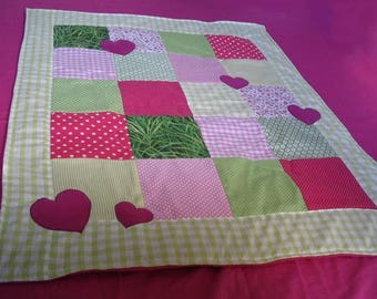 Cover Plaid baby - Fuchsia / Green