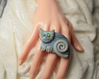 Ring, cocktail ring, cat (1515)