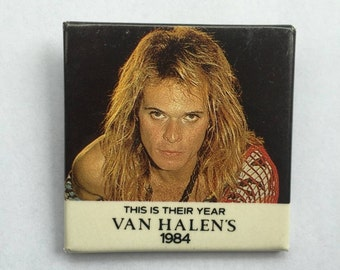 This is Their Year Van Halen's 1984 Vintage NOS Pin