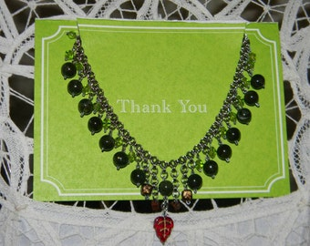 Elven Queen Anklet (Green and Silver)