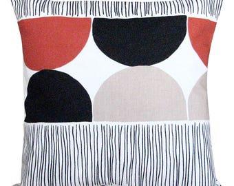 Scion Octant Lohko Nutmeg & Paprika Cushion Cover