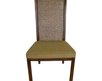 Midcentury Caned Back Chair Marked Drexel Heritage Dining Room