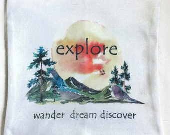 Explore Wander Dream Discover - Pillow Cover