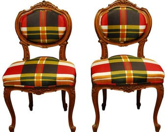19th Century French Louis XV Carved Chairs