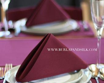 Burgundy Napkin 20 x 20 inches | Burgundy Wedding Napkins, Wine Napkins, Wholesale Cloth Napkins, Burgundy Table Linens, Wedding Table Decor