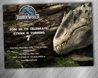 Jurassic World, Birthday Party Invitation