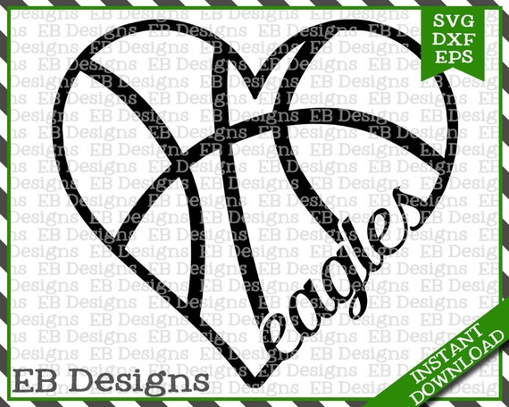 Eagles Basketball Svg Dxf Eps Cutting Machine Files Silhouette