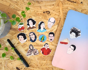 Twin Peaks Stickers & Magnets // vinyl stickers, fridge magnets, david lynch, laura palmer