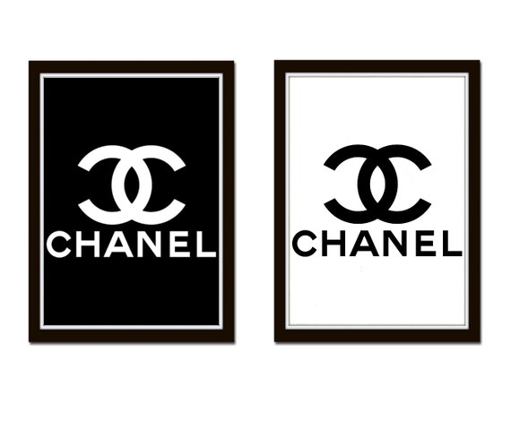 2 Prints For The Price Of One Chanel Logo Black And White