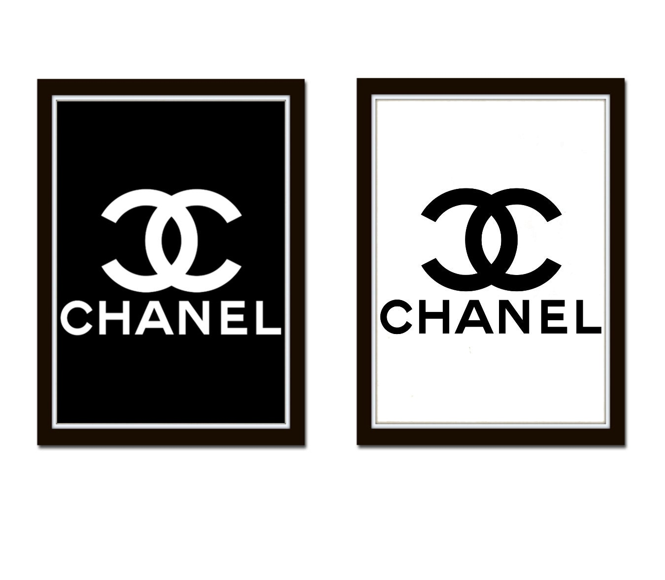 Impeccable image in printable chanel logo