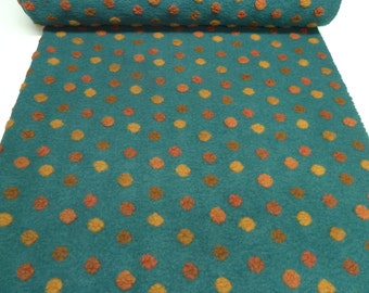 Fabric. Musterwalk walk relief Brogan teal green terra orange yellow - 4 BN-10-1072