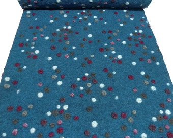 Fabric. Musterwalk relief Brogan dots multicolor blue bordeaux grey white - BN-10-1081