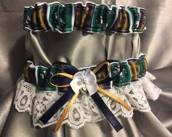 Notre Dame Wedding Garter Set