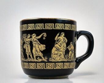 24Kt Gold Greek Miniature Mug