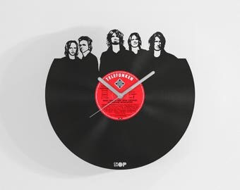 Aerosmith vinyl wall clock from upcycled vinyl record (LP) | Hand-made gift for Aerosmith fan, lover | Aerosmith home wall decoration