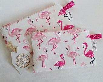 Tampon Holder Privacy Pouch Flamingo Fabric Flamingoes Flamingos Pills Tablets Feminine Products Items Discreet Glasses Case Coin Purse e