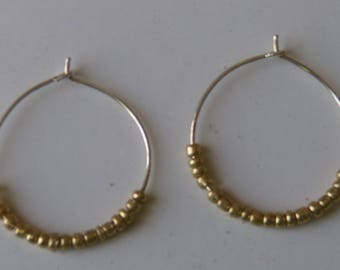 Little Gold Hoops / Handmade Little Gold Hoops