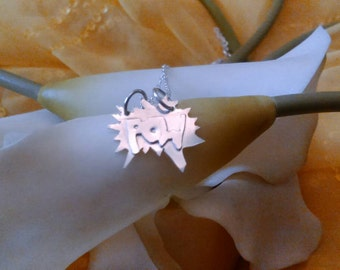 """Sterling silver""""pow!"""" Necklace"""