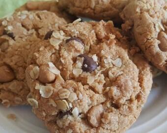 Peanut Butter Chocolate Chip Oatmeal Cookies  1 Dozen Gourmet