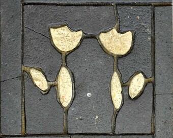 Floral Tile Mosaic Pattern Art