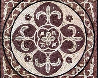 Fleur de Lis Marble Mosaic - Lyla