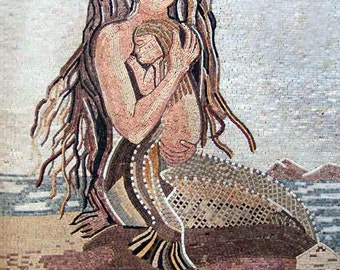 Mermaid Mother Mosaic-Sharon