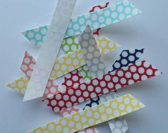 Polka Dot Fabric Washi Tape