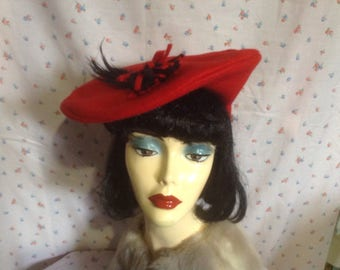 1940s style hand made ladies hat