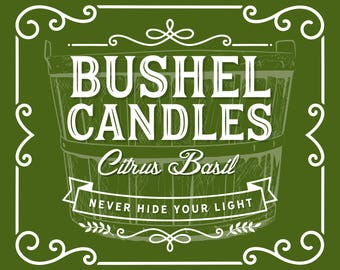 Citrus Basil Soy Candle