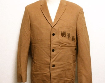 60's vintage British school jacket cashmere wool made in England