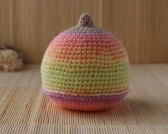 Spring Rainbow Crochet Boob, Antenatal Teaching Aid, Rainbow Crochet Breast, Breast-feeding Aid, IBCLC Teaching Aid, Lactation Aid