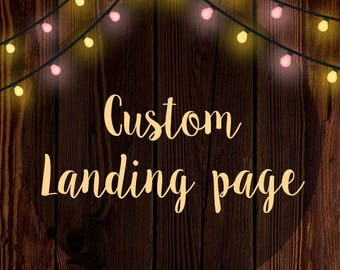 Custom Landing Page Design – WordPress Landing Page – HTML Landing Page – Coming Soon Page – Custom Intro Page - Promotional Landing Page