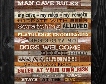 Cabin Wall Decor cabin rules framed print cabin wall decor lodge wall decor