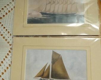 Artist Reuben Chappell Maritime Print Set, Sailing Ships, Atrtist Rueben Chappell, Prints, Decor