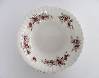 Royal Albert England Lavender Rose 9.5inch Round Vegetable Bowl, Vintage Tableware