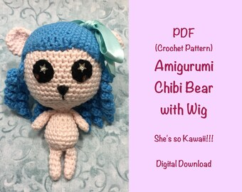 PDF Pattern Amigurumi Chibi Bear