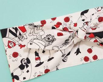 Queen of Hearts Alice in Wonderland Vintage Inspired Headband