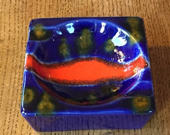 Carstens Tönnieshof quality and uncommon  ashtray, made in the 1970s in West Germany. WGP.