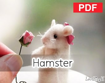 Sewing Pattern, PDF  --  Felt Hamster --  Instant Download, Tutorial, DIY, LoveLingZ