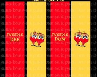 Tweedle Dee/ Dum Sublimation Cheer Bow Strips Download