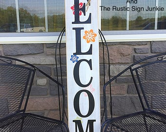 Summer porch signs, Spring porch decor, Welcome porch signs, Front porch decor, Rustic welcome signs, Front porch wood welcome signs