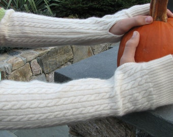 Cashmere Arm  Warmers - Arm Warmers - Repurposed Cashmere