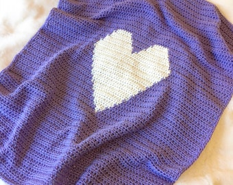 Crochet heart blanket, Baby Blanket, Heart Blanket, Baby Heart Blanket, Love Blanket, Crochet Blanket, Crochet Heart Blanket