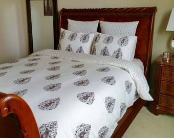 twin duvet cover/ duvet cover brown/ duvet cover twin/ dorm bedding/ single bed covers/bedding/ brown bed cover/ twin bedding/ duvet covers